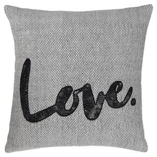 Mattia White/Black Applique Throw Pillow