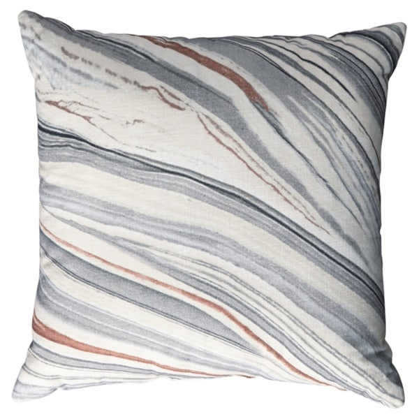 Miquel Grey Stone Design Pillow