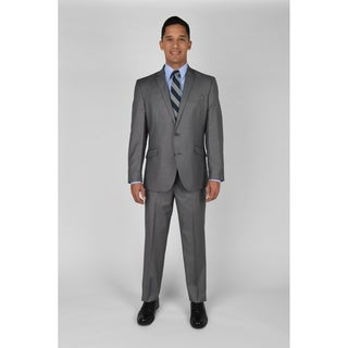 "KC Technicole Lt Grey Basketweave Suit with 32"" inseam"