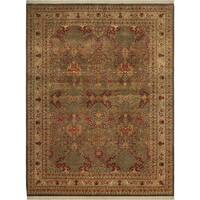 "Pak-Persian Santa Brown/Ivory Wool Rug - 9' 1"" x 12' 0"""
