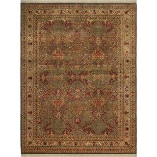 "Pak-Persian Santa Brown/Ivory Wool Rug - 9' 1"" x 12' 0"""