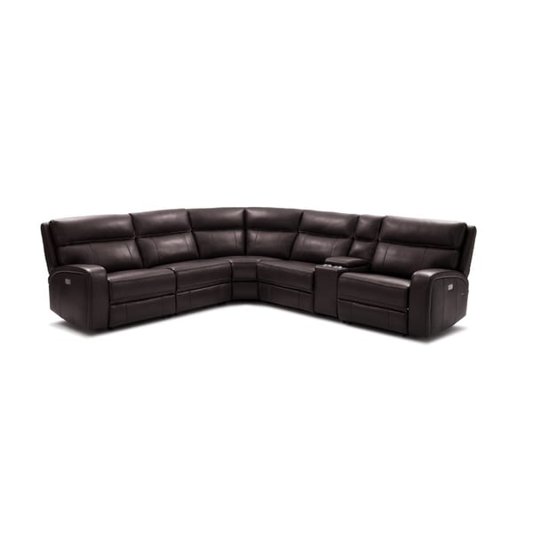 Cozy Chocolate 6 Pc Sectional