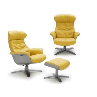 Yellow leather chair Light Yellow Karma Mustard Chair Overstock Buy Yellow Leather Recliner Chairs Rocking Recliners Online At