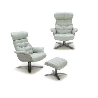 Karma Mint Green Italian Leather Chair