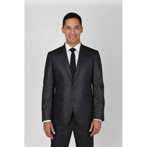 Kenneth Cole Reaction Gunmetal Basketweave Suit Separate Coat