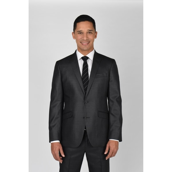 Kenneth Cole Reaction Gunmetal Basketweave Suit Separate Coat