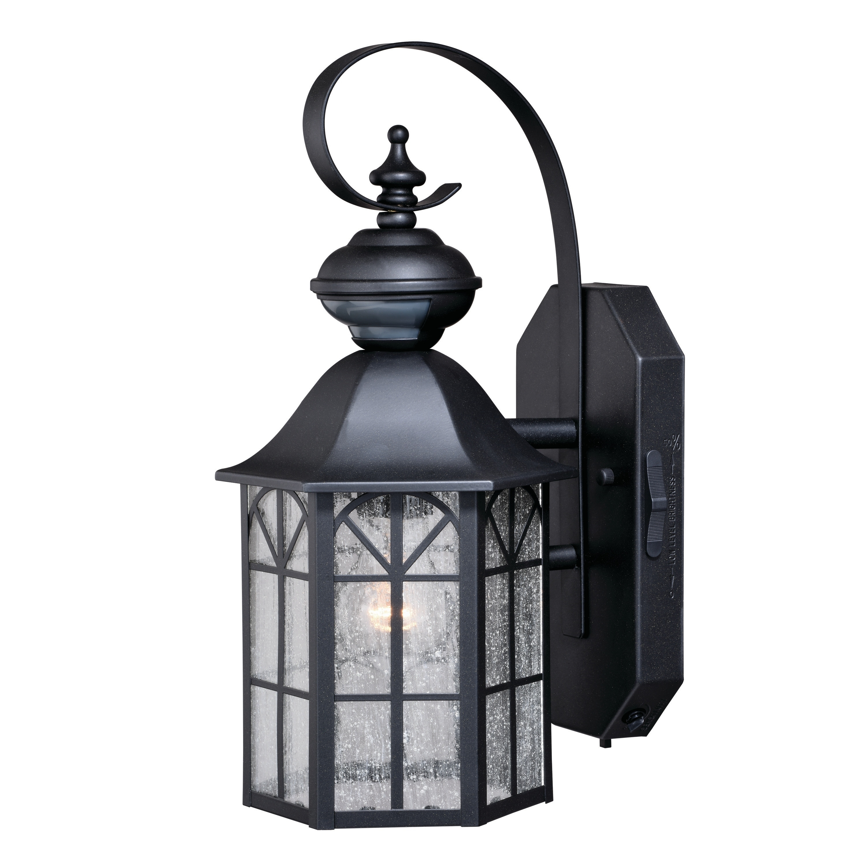 Image of: Shop Tudor Bronze Motion Sensor Dusk To Dawn Outdoor Wall Light 7 In W X 14 75 In H X 8 5 In D Overstock 20877009
