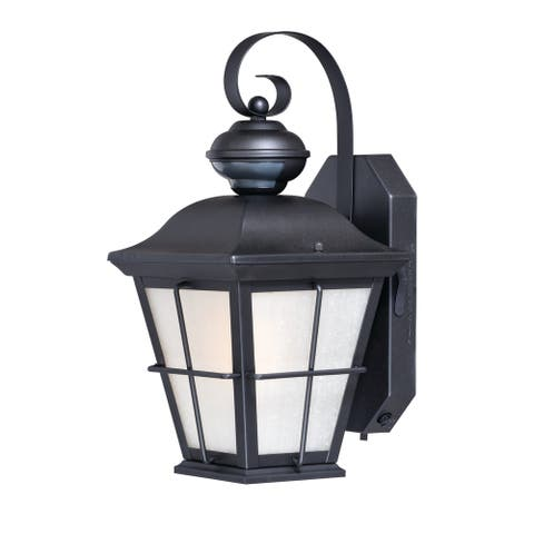 New Haven Bronze Motion Sensor Dusk to Dawn Outdoor Wall Light - 7-in W x 16-in H x 8.25-in D