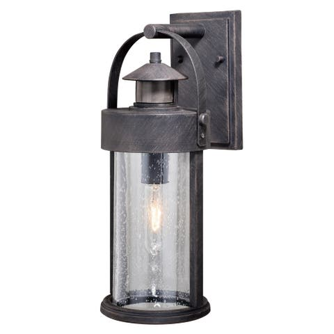 Cumberland Iron Motion Sensor Dusk to Dawn Outdoor Wall Light - 6-in W x 16-in H x 8-in D