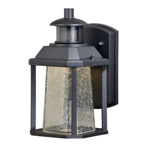 Freeport Bronze LED Motion Sensor Dusk to Dawn Outdoor Wall Light - 5.5-in W x 10.25-in H x 6.25-in D