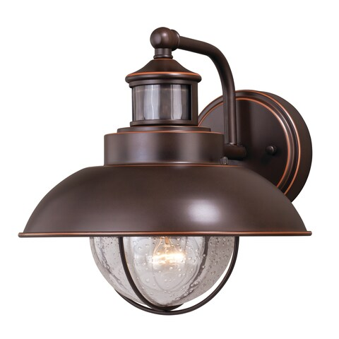 """Vaxcel Harwich Dualux® 10"""" Outdoor Wall Light Burnished Bronze"""