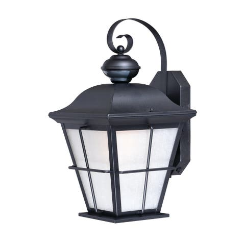 New Haven Bronze Motion Sensor Dusk to Dawn Outdoor Wall Light - 9-in W x 18.75-in H x 10.25-in D