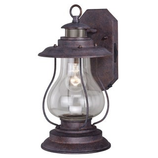 """Vaxcel Dockside Dualux® 8"""" Wall Light Weathered Patina"""