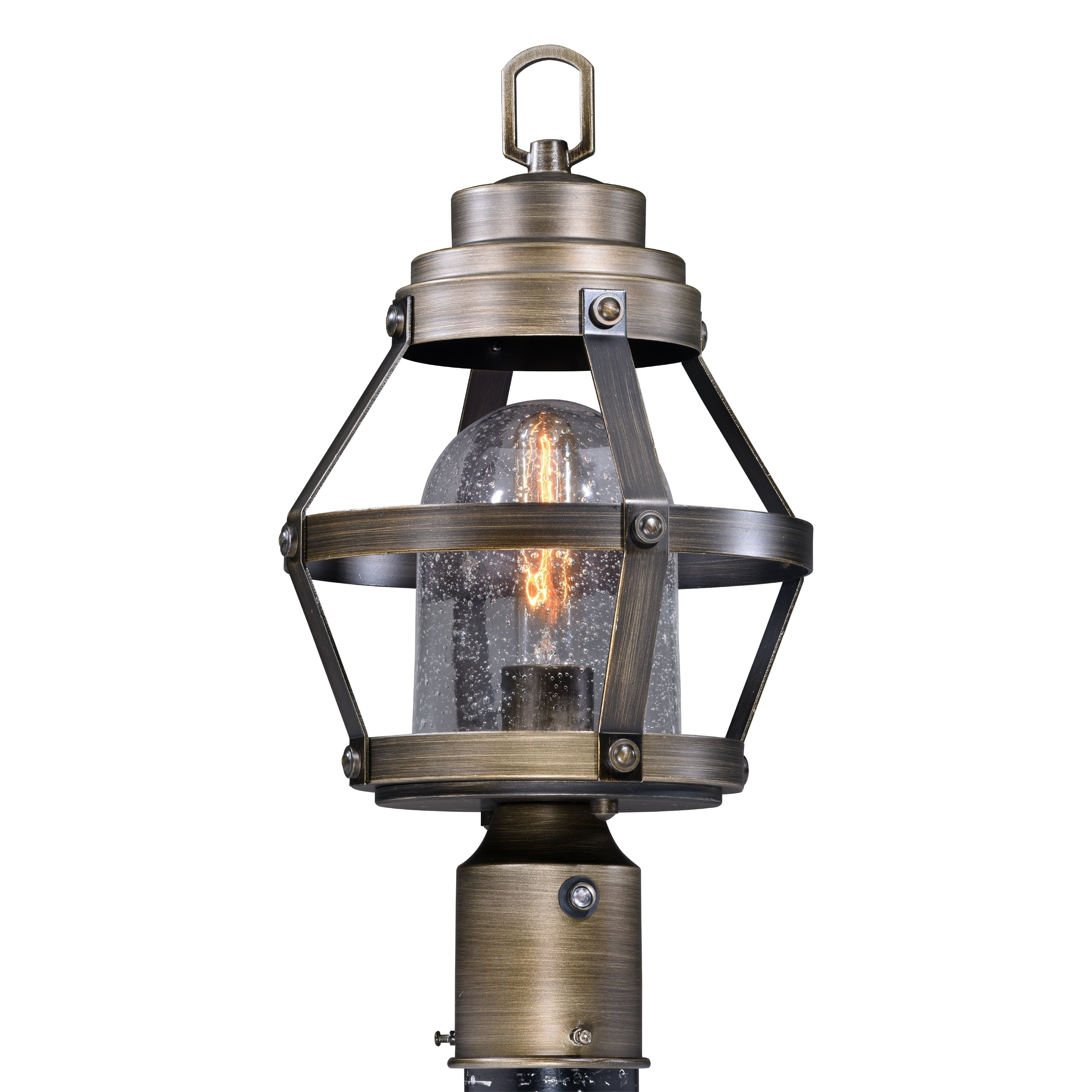 Shop Black Friday Deals On Bruges 1l Dusk To Dawn Bronze Outdoor Cage Post Light Clear Glass 9 In W X 17 25 In H X 9 In D Overstock 20877080