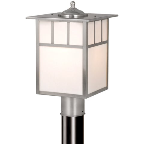 """Vaxcel Mission 9"""" Outdoor Post Light Stainless Steel"""