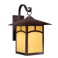 "Vaxcel Mission II 11"" Outdoor Wall Light Espresso Bronze"
