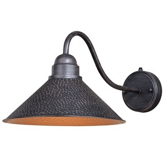 """Vaxcel Outland 12"""" Long Arm Outdoor Wall Light Aged Iron"""