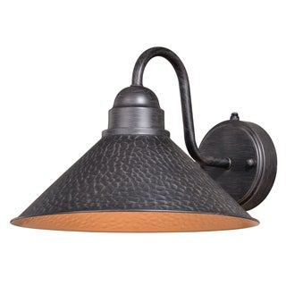 """Vaxcel Outland 12"""" Outdoor Wall Light Aged Iron"""