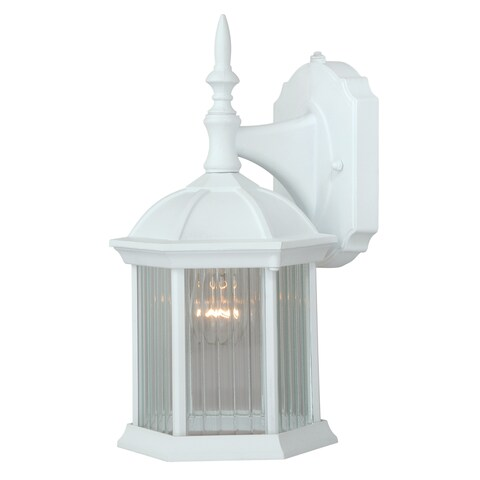 "Vaxcel Kingston Aluminum 6-1/4"" Outdoor Wall Light Textured White"