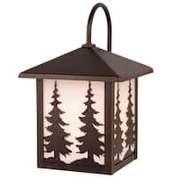 """Vaxcel Yosemite 8"""" Outdoor Wall Light Burnished Bronze"""