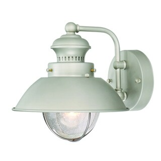 """Vaxcel Harwich 8"""" Outdoor Wall Light Brushed Nickel"""