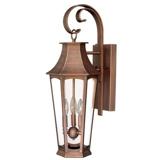 "Vaxcel Preston 10"" Outdoor Wall Light Brushed Copper"