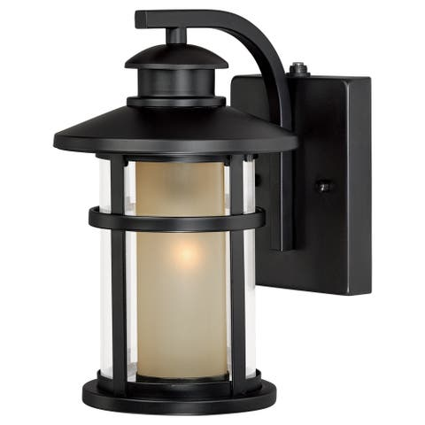 Cadiz 1 Light Dusk to Dawn Bronze Mission Cylinder Outdoor Wall Lantern - 6.5-in W x 10.5-in H x 8-in D