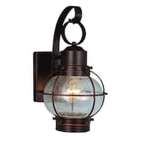 """Vaxcel Chatham 7"""" Outdoor Wall Light Burnished Bronze"""