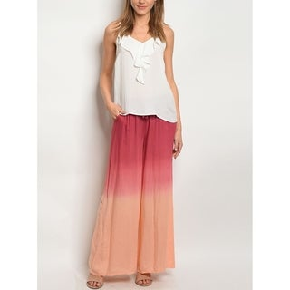 JED Women's Tie Dye Wide Leg Palazzo Pants (3 options available)