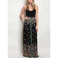 JED Women's High Waist Floral Maxi Skirt