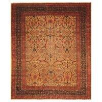 Handmade Herat Oriental Persian Hand-knotted Antique Tabriz 1920's Wool Rug (Iran) - 8'10 x 11'