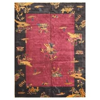 Handmade One-of-a-Kind Art Deco Wool Rug