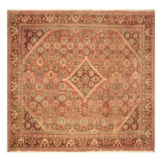 Handmade Herat Oriental Persian Hand-knotted Antique Art Deco 1920's Wool Rug - 10'6 x 10'4 (Iran)