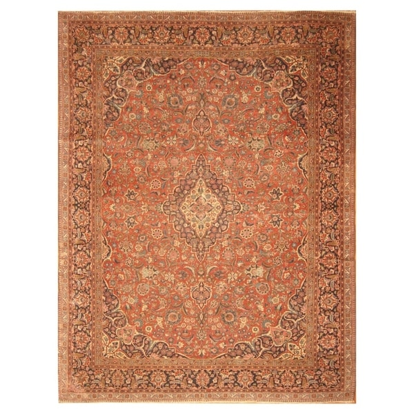 Vintage Persian Bokhara Wool Area Rug 10 X 13: Shop Handmade Herat Oriental Persian Hand-knotted Antique