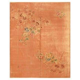 Handmade Herat Oriental Chinese Hand-knotted Antique Art Deco 1920's Wool Rug (China) - 7'10 x 9'10