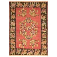 Handmade Herat Oriental Turkish Hand-knotted Antique Kilim 1940's Wool Rug (Turkey) - 8'3 x 11'6