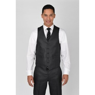 Kenneth Cole Reaction Gunmetal Basketweave Suit Separate Vest