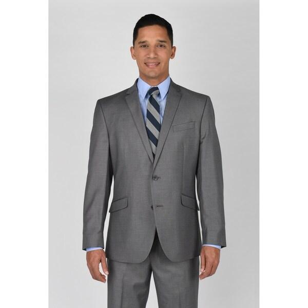 Kenneth Cole Reaction Light Grey Basketweave Suit Separate Coat