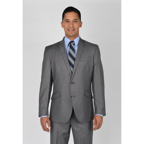 Kenneth Cole Reaction Light Grey Basketweave Suit Separate Coat