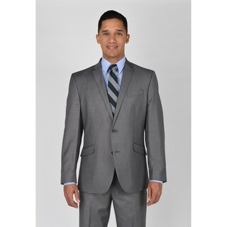 Kenneth Cole Reaction Light Grey Basketweave Suit Separate Coat (More options available)
