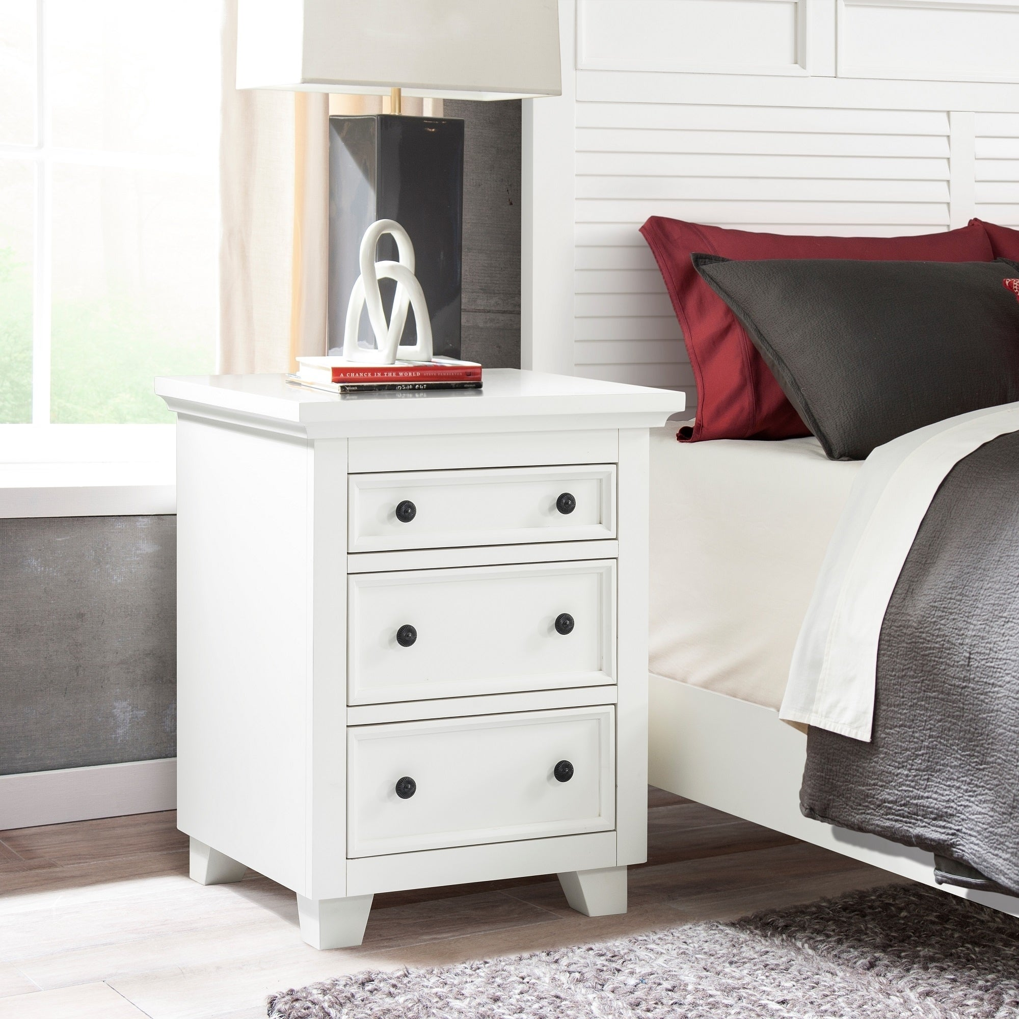 Bermuda Dunes 3 Drawer Nightstand French White