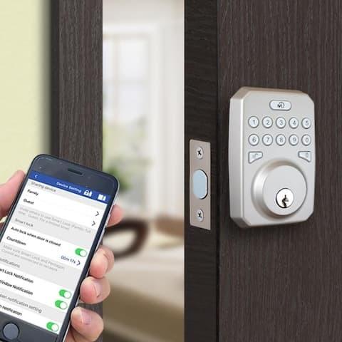 Smart Lock, Hub & Sensor App Compatible (Control Lock From Anywhere)