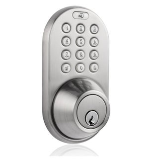Electronic Keyless Entry Touchpad Deadbolt Door Lock (Option: Silver - Nickel Finish - Metal)