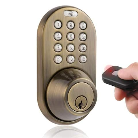 Digital Deadbolt Keyless Entry via Remote Control and Keypad