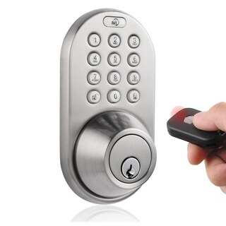 Digital Deadbolt Keyless Entry via Remote Control and Keypad