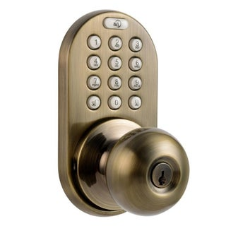 Electronic Touchpad Keyless Entry Door Lock (Option: Taupe - Antique - Metal)
