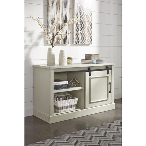 Jonileene Casual Home Office Cabinet White/Gray
