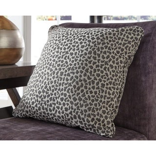 Piercy Grey Cheetah Print Throw Pillow