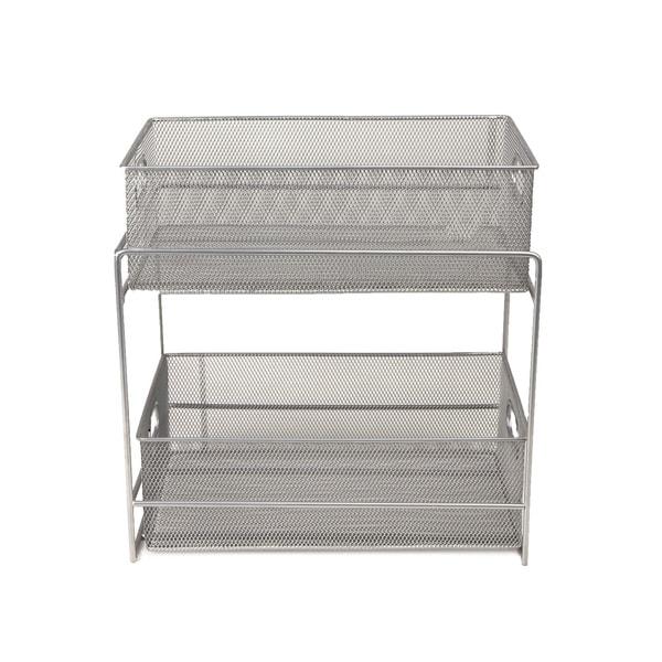 Mind Reader 2 Tier Metal Mesh Storage Baskets Organizer, Home, Office,  Kitchen,