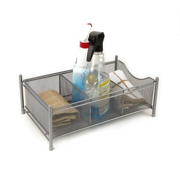 Superbe Mind Reader 3 Compartment Metal Mesh Storage Baskets Organizer, Home, Office,  Kitchen, ...